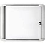 Vitrine d'affichage Office Depot MasterVision Aluminium, verre, caoutchouc 68,8 x 81,6 cm