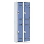Vestiaires Multicases Pierre Henry 2 colonnes 600 x 500 x 1800 mm Gris
