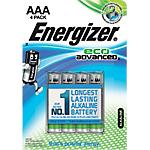 Piles alcalines Energizer Eco Advanced AAA 4 Unités