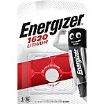 Piles bouton Energizer Lithium 3V CR1620