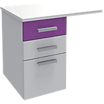 Extension de bureau Adjust 800 x 600 x 719 mm Blanc, violet