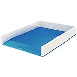 Corbeille à courrier Leitz WOW Blanc, Bleu métallisé