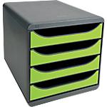 Module de tiroirs Exacompta Big Box Classic 4 27,8 x 34,7 x 26,7 cm Noir, Vert anis