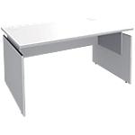 Bureau droit Adjust 1400 x 800 x 820 mm Blanc, gris aluminium