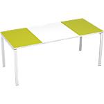 Bureau droit 4 pieds Paperflow EasyOffice Vert, blanc 1800 x 800 x 750 mm