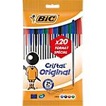 Stylo bille avec capuchon BIC Cristal Original 0.32 mm Assortiment   20 Unités
