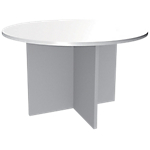 Table ronde Adjust 1 200 x 1 200 x 725 mm Blanc