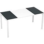 Bureau droit 4 pieds Paperflow EasyOffice Anthracite, blanc 1600 x 800 x 750 mm