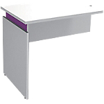 Extension de bureau Adjust 800 x 600 x 820 mm Blanc, violet