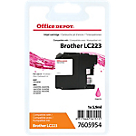 Cartouche jet d'encre Office Depot Compatible Brother LC223M Magenta