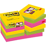 Notes adhésives Post it 47,6 x 47,6 mm Assortiment   12 Unités de 90 Feuilles