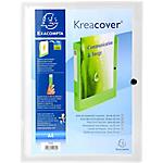 Boites de classement à pression Exacompta Krea Cover 25 x 33 cm Transparent