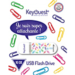 Clé USB KeyOuest Trombone 16 Blanc