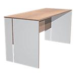 Bureau droit Zen 140 (L) x 60 (P) x 72 (H) cm Imitation noyer, blanc