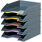 Corbeilles à courrier DURABLE VARICOLOR A4+ Assortiment   5 Unités
