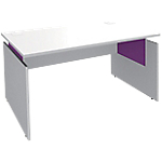 Bureau ajustable Adjust 1 400 x 800 x 820 mm Blanc, violet