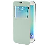 Étui de protection folio S View OMENEX Samsung Galaxy S6 Edge Blanc