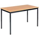 Table de réunion modulaire rectangulaire Domino 120 x 60 x 74 cm Imitation Hêtre