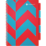Cahier petits carreaux reliure intégrale Foray Extreme A4 Rouge, turquoise 350 Pages   175 Feuilles