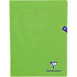 Cahier grands carreaux piqué Polypro Clairefontaine Mimesys A4 Vert 48 Pages   24 Feuilles