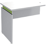 Extension de bureau Adjust 800 x 600 x 820 mm Blanc, vert