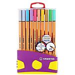 Feutre d'écriture STABILO Colorparade POINT 88 Pastel   20 Unités