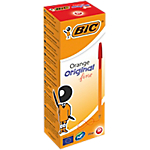 Stylo bille BIC Orange Original 0.2 mm Rouge   20 Unités