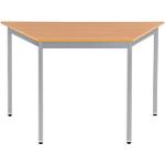 Table de réunion modulaire trapèze Domino 1200 x 600 x 740 mm Imitation Hêtre