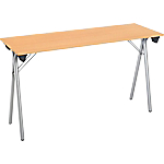 Table pliante de formation 1 200 x 400 x 740 mm Imitation Hêtre