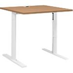 Bureaux réglables en hauteur L. 80 cm T Pied Gautier Office TopLine Imitation merisier, blanc 800 x 800 x 740 mm Hauteur Ajustable