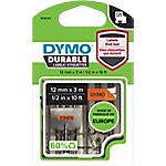Ruban d'étiquettes DYMO D1 Durable 12 mm x 3 m Noir sur orange   3 m