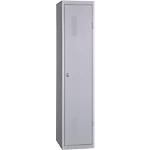 Vestiaire Industrie Salissante 1 colonne   Elément suivant 400 x 500 x 1800 mm Gris