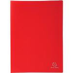 Protège documents soudé Exacompta Opaque Polypro 20 Pochettes A4 Rouge