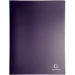 Album de présentation Exacompta 85101E PP 100 Pochettes A4 Noir