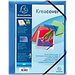 Chemise 3 rabats à élastique Krea Cover Exacompta Polypropylène A4 Bleu