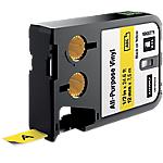Ruban d'étiquettes industrielles DYMO XTL 12 mm x 7,5 m Noir, jaune