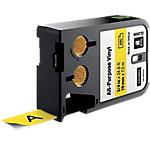 Ruban d'étiquettes industrielles DYMO XTL Noir, jaune 19 x 7500 mm
