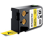 Ruban d'étiquettes industrielles DYMO XTL 24 mm x 7,5 m Noir, jaune