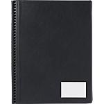 Protège documents soudé Exacompta Goldline PVC 24 Pochettes A3 portrait Noir