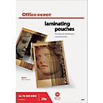 Pochettes de plastification à chaud Office Depot Brillant 2 x 75 (150) µm Transparent 25 Unités