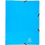 Classeur 2 anneaux Iderama Exacompta 20 mm Brillant Carte lustrée pelliculée 2 anneaux A4 Bleu
