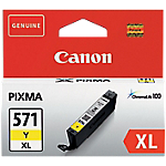 Cartouche jet d'encre Canon D'origine CLI 571Y XL Jaune