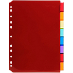 Intercalaires Exacompta A4 Assortiment 8 intercalaires Polypro Etiquette imprimable