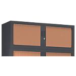 Rehausse pour armoire monobloc anthracite Acier Porte rideaux 1200 x 430 x 440 mm L. 120 cm