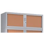 Rehausse pour armoire monobloc aluminium Acier Porte rideaux 1200 x 430 x 440 mm L. 120 cm