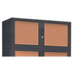 Rehausse pour armoire monobloc anthracite Acier Porte rideaux 1000 x 430 x 440 mm L. 100 cm