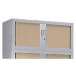 Rehausse pour armoire monobloc aluminium Acier Porte rideaux 44 (H) x 100 (l) x 43 (P) cm Pierre Henry L. 100 cm