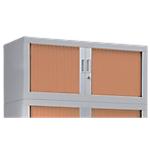Rehausse pour armoire monobloc aluminium Acier Porte rideaux 44 (H) x 100 (l) x 43 (P) cm L. 100 cm