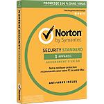 Logiciel Antivirus Symantec Norton Security Standard 1 An 1 Appareil