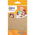 Etiquettes Avery Avery A6 Kraft 89 x 41 mm 18 Unités